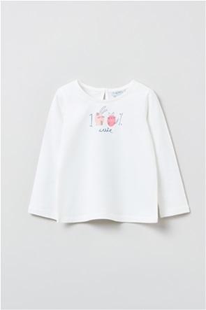 OVS βρεφική μπλούζα με print (9-36 μηνών)