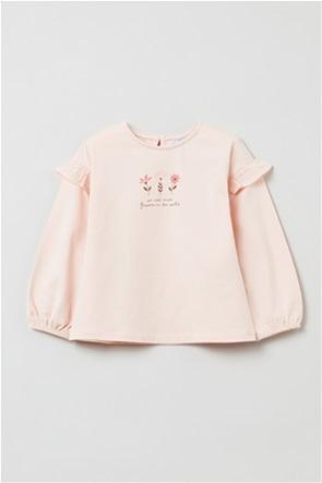 OVS βρεφική μπλούζα με letter print (9-36 μηνών)