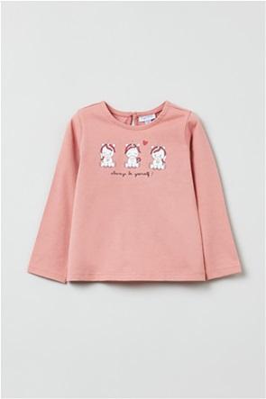 OVS βρεφική μπλούζα με unicorn print (9-36 μηνών)