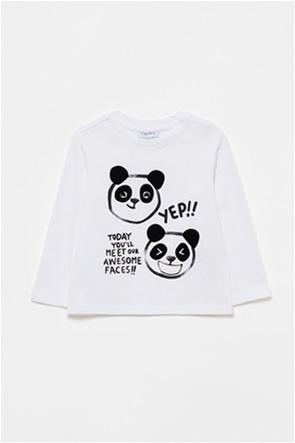 OVS βρεφική μπλούζα με panda και letter print (9-36 μηνών)