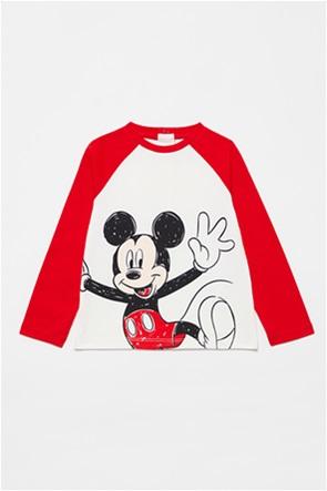 "OVS βρεφική μπλούζα με μανίκια reglan ""Mickey Mouse"" (9-36 μηνών)"