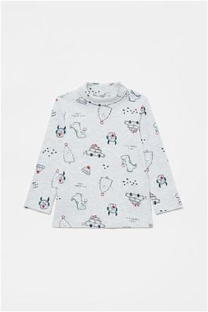 OVS βρεφική μπλούζα με christmas trees print (12-36 μηνών)