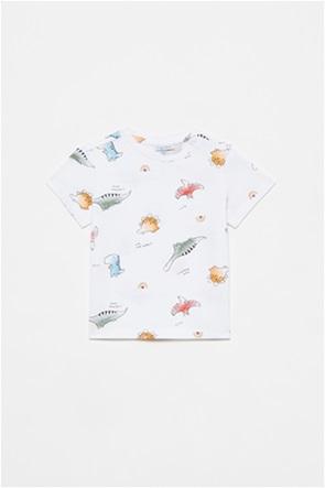 OVS βρεφικό T-shirt με all-over dinosaurs print (12-36 μηνών)