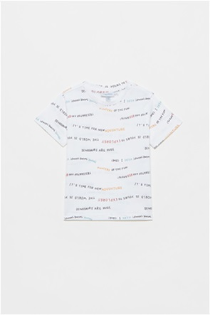 OVS βρεφικό T-shirt με all-over lettering print (12-36 μηνών)