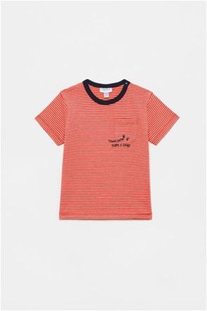 OVS βρεφικό T-shirt ριγέ με letter print (12-36 μηνών)