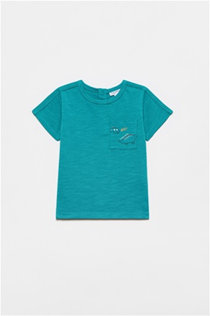 OVS βρεφικό T-shirt με απλικέ τσέπη με dinosaur print (12-36 μηνών)