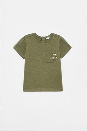 OVS βρεφικό T-shirt με τσέπη με dinosaur print (12-36 μηνών)