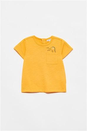 OVS βρεφικό T-shirt με απλικέ τσέπη και dinosaur print (12-36 μηνών)