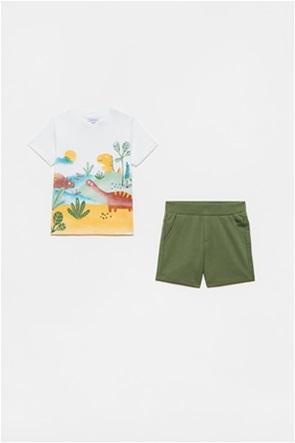OVS βρεφικό σετ ρούχων T-shirt με graphic print και σορτς (12-36 μηνών)