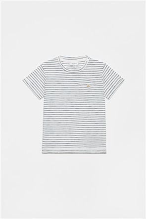 OVS βερφικό T-shirt ριγέ με τσέπη με κουμπί (9-36 μηνών)