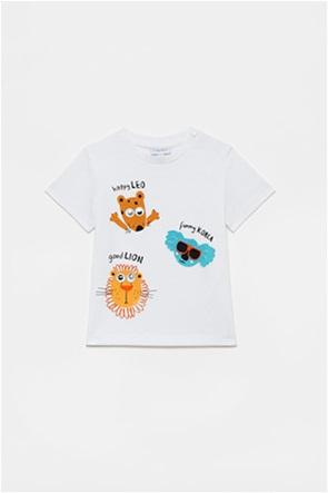 OVS βρεφικό T-shirt με animals print (12-36 μηνών)