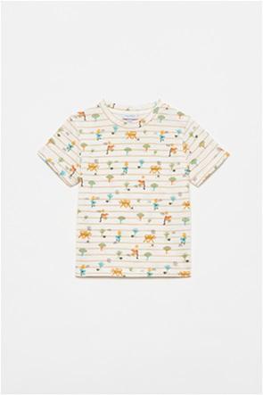 OVS βρεφικό T-shirt με all-over animals print