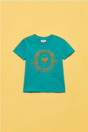 OVS βρεφικό T-shirt με κέντημα λιοντάρι (12-36 μηνών)