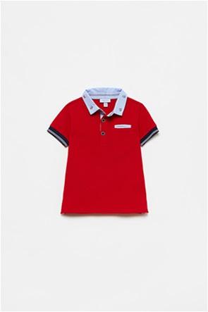 OVS βρεφική πόλο μπλούζα με print στο γιακά (12-36 μηνών)