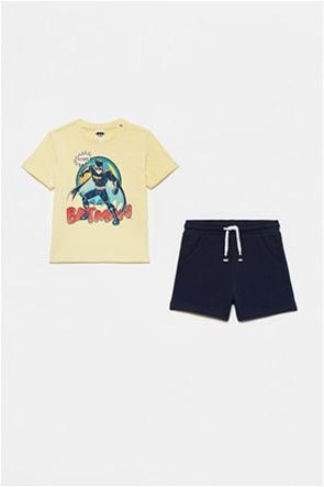 "OVS βρεφικό σετ ρούχων T-shirt με print και σορτς ""Batman"" (9-36 μηνών)"