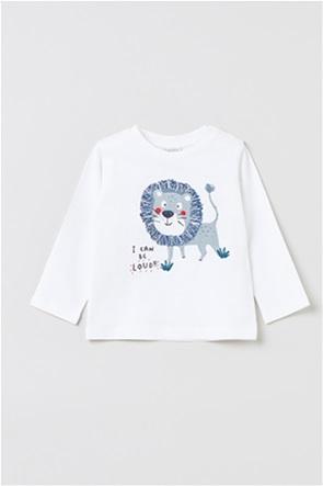 OVS βρεφική μπλούζα με lion print (9-36 μηνών)