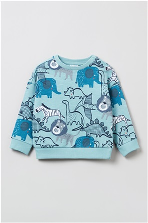 OVS βρεφική μπλούζα φούτερ με dinosaurs print (9-36 μηνών)