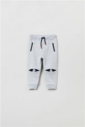 "OVS βρεφικό παντελόνι φόρμας μονόχρωμο ""Mickey Mouse"" (9-36 μηνών)"