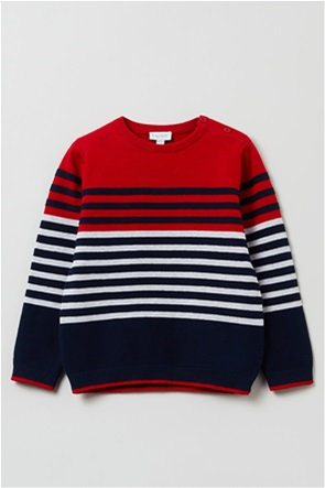 OVS παιδική μπλούζα πουλόβερ ριγέ (9-36 μηνών)