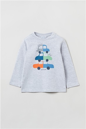 OVS βρεφική μπλούζα με σχέδιο cars (9-36 μηνών)