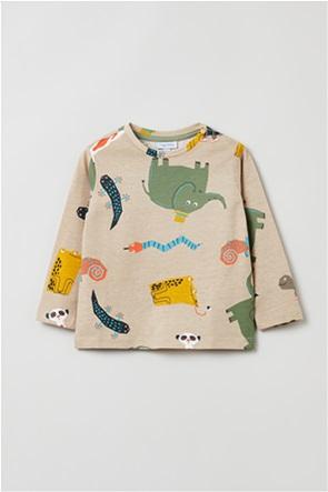 OVS βρεφική μπλούζα με all-over animal print (9-36 μηνών)