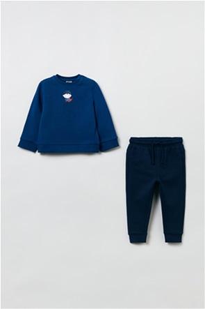 OVS βρεφικό σετ ρούχων μπλούζα φούτερ με Superman print και παντελόνι φόρμας (12-36 μηνών)