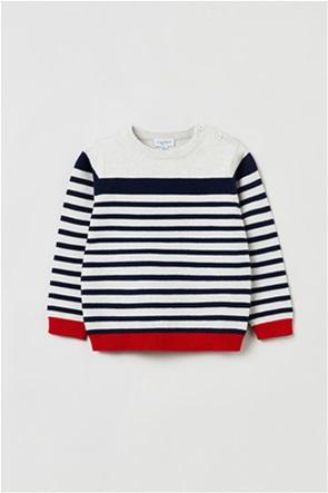 OVS βρεφική μπλούζα πλεκτή ριγέ (12-36 μηνών)