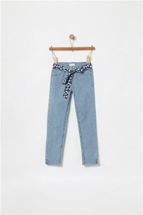 OVS παιδικό ριγέ παντελόνι με floral ζώνη (4-10 ετών)