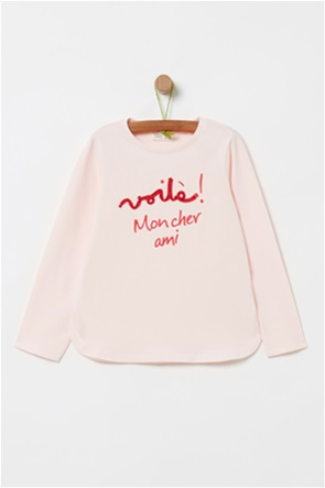 OVS παιδική μπλούζα με glitter lettering (4-10 ετών)