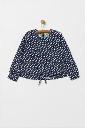 OVS παιδικό μακρυμάνικο πουκάμισο με floral print (4-10 ετών)