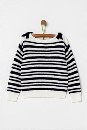 OVS παιδικό πλεκτό πουλόβερ με ρίγες (4-10 ετών)