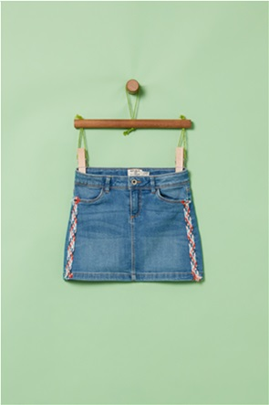 OVS παιδική denim φούστα με πολύχρωμη τρέσα (3-10 ετών)