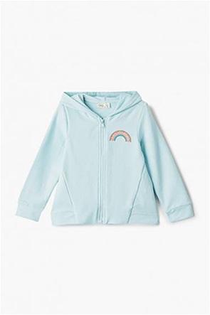 OVS παιδική φούτερ ζακέτα με κουκούλα και print  (3-10 ετών)