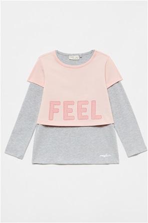 OVS παιδική μπλούζα με layer σε άλλο χρώμα (3-10 ετών)