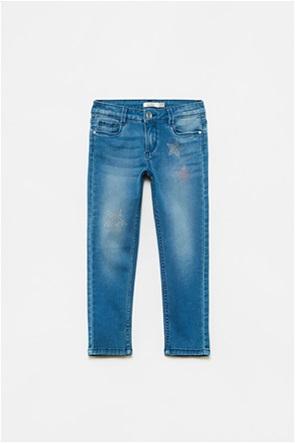 OVS παιδικό τζην παντελόνι με στρας αστέρια (3-10 ετών)