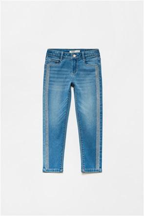 OVS παιδικό τζην παντελόνι με τρέσα από στρας (3-10 ετών)