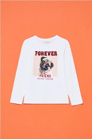 OVS παιδική μπλούζα με print και παγιέτες (3-10 ετών)