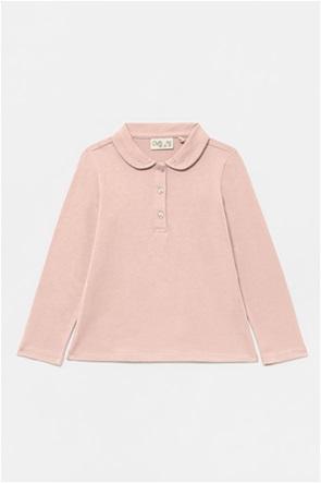 OVS παιδική πόλο μπλούζα με διακοσμητικά στρας στο γιακά (3-10 ετών)
