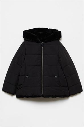 OVS παιδικό μπουφάν διπλής όψης με κουκούλα καπιτονέ (3-10 ετών)
