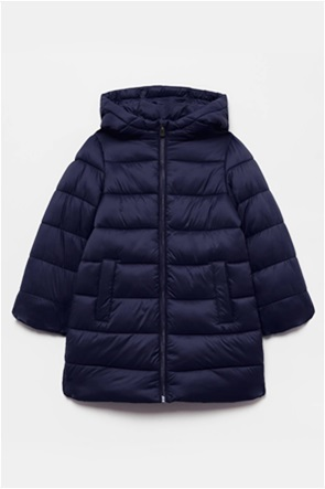 OVS παιδικό μπουφάν με κουκούλα καπιτονέ μακρύ (3-10 ετών)