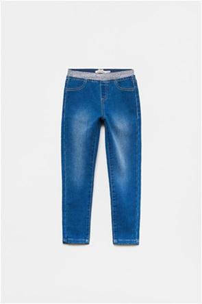 OVS παιδικό τζην παντελόνι με lurex λάστιχο (3-10 ετών)