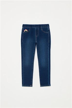OVS παιδικό τζην παντελόνι με κέντημα rainbow (3-10 ετών)