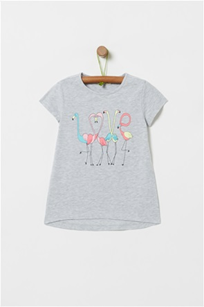 OVS παιδικό T-shirt με flamingo print (3-10 ετών)