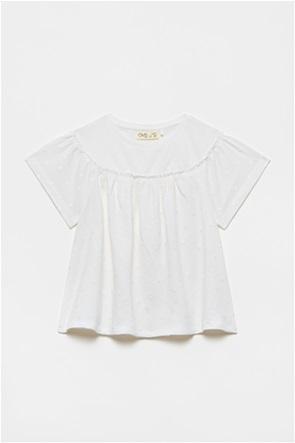 OVS παιδική μπλούζα με βολάν μονόχρωμη (3-10 ετών)