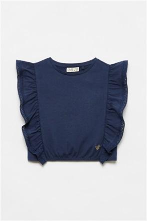 OVS παιδική μπλούζα αμάνικη με βολάν στα πλαϊνά (3-10 ετών)