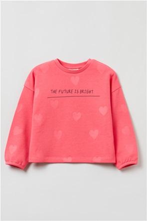 OVS παιδική μπλούζα φούτερ με lettering (3-10 ετών)