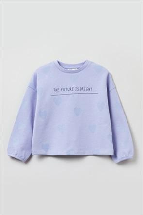 OVS παιδική μπλούζα φούτερ με all-over heart pattern (3-10 ετών)