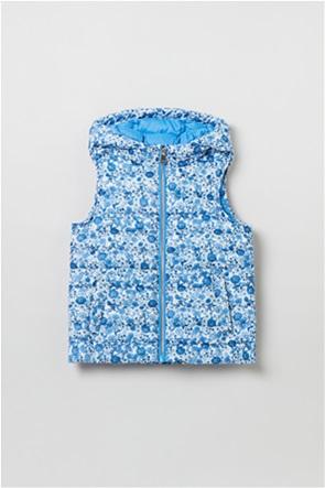 OVS παιδικό γιλέκο καπιτονέ με all-over floral print (3-10 ετών)