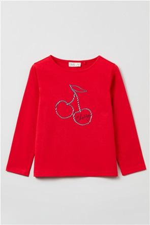OVS παιδική μπλούζα με cherry print (3-10 ετών)