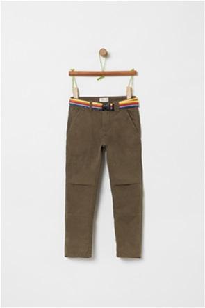 OVS παιδικό μονόχρωμο παντελόνι με ζώνη (3-10 ετών)